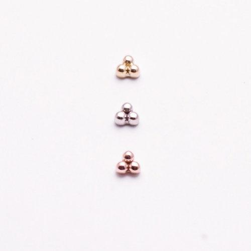 tri-bead-cluster-yellow-white-rose-gold-Obelisk-body-piercing-renton-wa-2